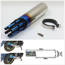 Motorcycle ATV Modified Exhaust Pipe Gatling Gun Styles Muffler With Rotate Cap