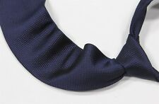 New! Brioni Midnight Navy Blue Woven Silk Slim Handmade Necktie Tie