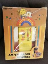 Vintage Rainbow Brite 1983 Am Radio w/ Headset Vanity Fair Ertl 1980s