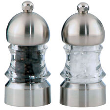 "Chef Specialties 3.5"" ""Metro"" Brushed Stainless Salt & Pepper Mill / Grinder Set"