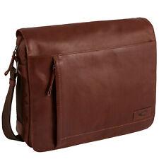 Camel active Men's Messenger Bag Laredo Leather Cognac-Brown 290-801-22