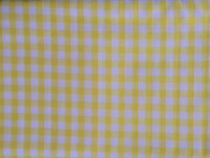 0.5 metre Yellow 1/4 inch Gingham 100% Cotton Fabric 112cm wide