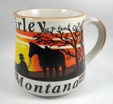 New listing Coffee Mug Cup Shirley Montana Cowboy Horse Cattle by Rtsi Vintage Souvenir