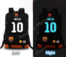 bf6362a1ad Barcelona Messi 10 Noctilucence laptop Backpack men Canvas travel School Bag