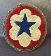 WWII US Military Army Service Forces 1942 Vintage Military Patch Green Border