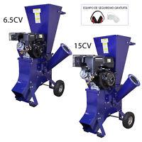 Trituradora de Ramas 6,5 CV y 15 CV Gasolina para Destrucción de Ramas y Hojas