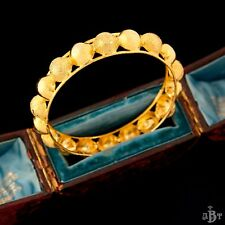 Antique Vintage Deco Gold Filled Mughal Indian Wedding Dome Bangle Bracelet