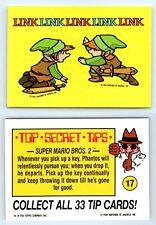 1989 Nintendo Game Pack Topps Sticker Card #17 Link Link Link Link