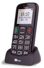 TTfone Mercury Big Button Basic Senior Unlocked Mobile Phone Sim Free-Black