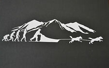 SLED DOG SPIRIT EVOLUTION BORN TO RUN SIBERIAN HUSKY STICKER DECAL HUSKIES SIBES