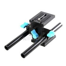 15mm Rod Rail Rig Support System Baseplate For Follow Focus DSLR Canon Nikon