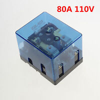 1PC 110VAC 80A DPDT Power Relay Motor Control Screw Mount