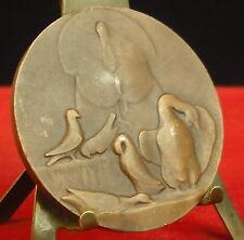 * Médaille Dinde Dindon Poule Coq Turkey Hen Rooster par A Herbemont  Medal 勋章