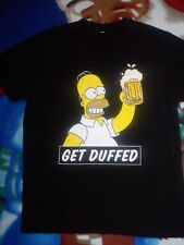 NEW THE SIMPSONS GET DUFFED MEN T-SHIRT TEE SIZE M MEDIUM OR BOY 15/16 YRS 17Y