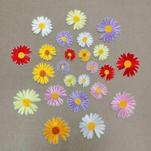 Daisy iron on patches Flower blossom bloom flowers
