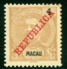 China 1911 Macao 4a Color Error Yellow Brown Scott 150a MNH W865