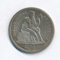 1863-S Liberty Seated One Dime - XF