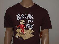 PAUL FRANK Julius Break it! T Shirt Brown NWT