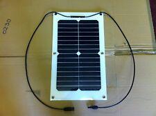 20 W 12 V Semi Flexible PV Panneau Solaire Caravane Bateaux SUNPOWER cellules et câbles