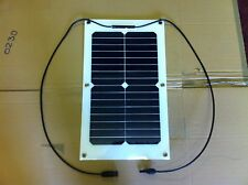20W 12V semi flexible pv solar panel caravans boats sunpower cells and cables