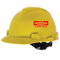 Danger Stupid Kills Decal for Tool Box Hard Hat Helmet Wall Window Door Room Car