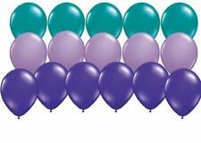 18 PC Purple Lavender and Teal Mermaid Coordinating Latex Balloons FREE SHIP