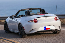 Fits: Mazda Miata MX5 2016+  Factory Style Lip Mount Rear Spoiler Primer Finish
