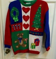 Lord & Taylor Christmas Party Sweater size Medium women's