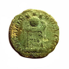 Constantine II 316-340AD - BEATA TRANQUILLITAS / GLOBE ON ALTAR  #PZS32