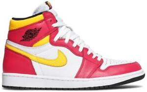 NIKE Air Jordan 1 High FUSION RED Yellow Men's 555088-603 BRAND NEW IN HAND