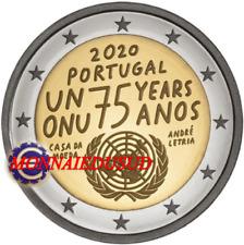 2 Euro Commémorative Portugal 2020 - 75 Ans de l'ONU UNC NEUVE