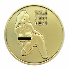 Pin Up Heads and Tails Good Luck Challenge Coin Gift for Man
