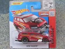 HOT WHEELS 2015 # 153/250 NITRO Tailgater RED-ORANGE HW CORSA CASE P nuova colata