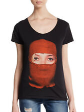 ELEVEN PARIS Kate Moss God Save The Queen Balaclava Tee T-Shirt Top in Black XS