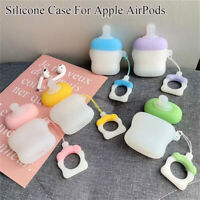 Case with Finger Ring Strap Silicone Earphone Cover For Apple AirPods