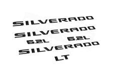 Gloss Black Silverado LT 6.2L Emblem Nameplate Kits fit 2019-2021 Silverado OEM