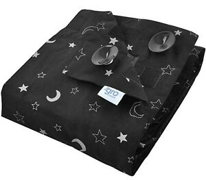 Portable Blackout Blind with Suction Cups Stars and Moons
