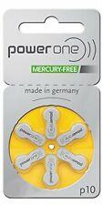 Power One Size 10 Zinc Air Hearing Aid Batteries (60 batteries)