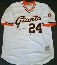WILLIE MAY Signed Autographed San Francisco Giants Jersey w/Mays Holo. COA