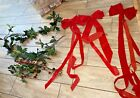 Vtg Bows, Berries & Red Bow Festive Christmas  Branch Garland Lot