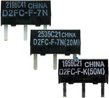 OMRON D2FC-F-7N / D2FC-F-K (5M) (20M) (50M) Mikroschalter Microswitch Maustaster