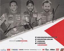 Hair, charouz, rast main signé le mans promo carte loeb racing.