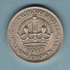 Australia.  1938 Crown...  Much Lustre - EF/gEF..