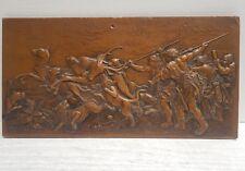 Scène de chasse à l'antique - plaque en galvano fin 19ème siècle.
