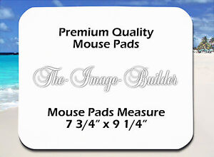 25 Blank White 1/8 Plain Mousepad 7.75x9.25 Sublimation Heat Transfer Mouse Pad