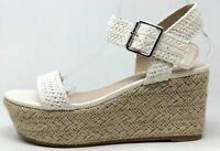 Madden Girl Womens Champ Wedge Dress Sandals White Size 6.5 M US