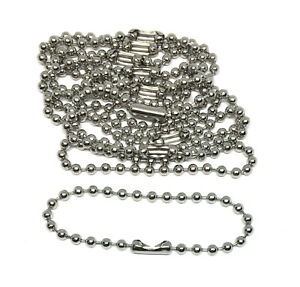 20 hypoallergenic stainless steel ball chain key rings 4 inch