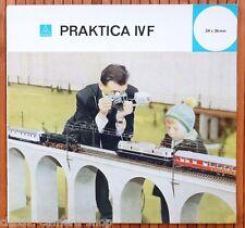 VEB Pentacon fotocamera prospetto Praktica IV F/IV FB opuscolo di 1964 (x3003