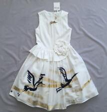 NWT JOTTUM WHITE CREAM SWAN 'SIES' DRESS 8 - 9 Y SZ 134