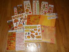 Fall Scrapbooking Kit Paper Stickers Autumn Embellishments
